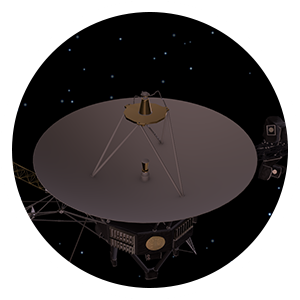 image of voyager's high gain antenna