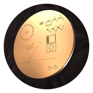 image of voyager's golden record