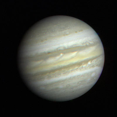 First close up view of Jupiter from Voyager 1