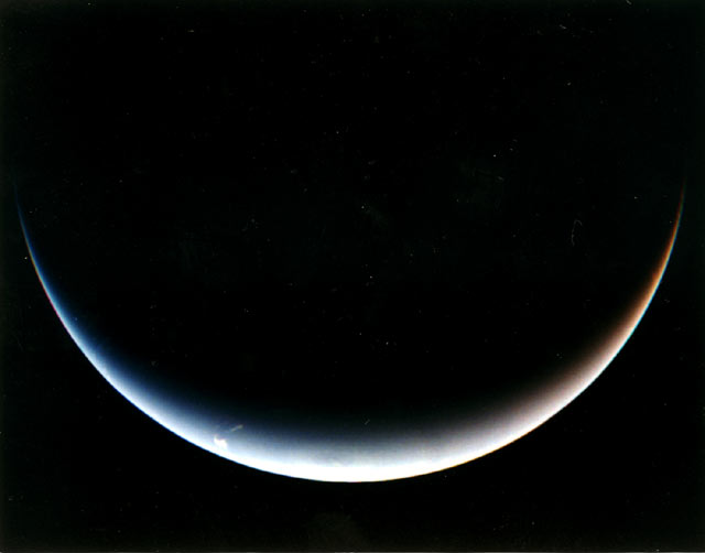 Post-encounter view of Neptune's south pole.