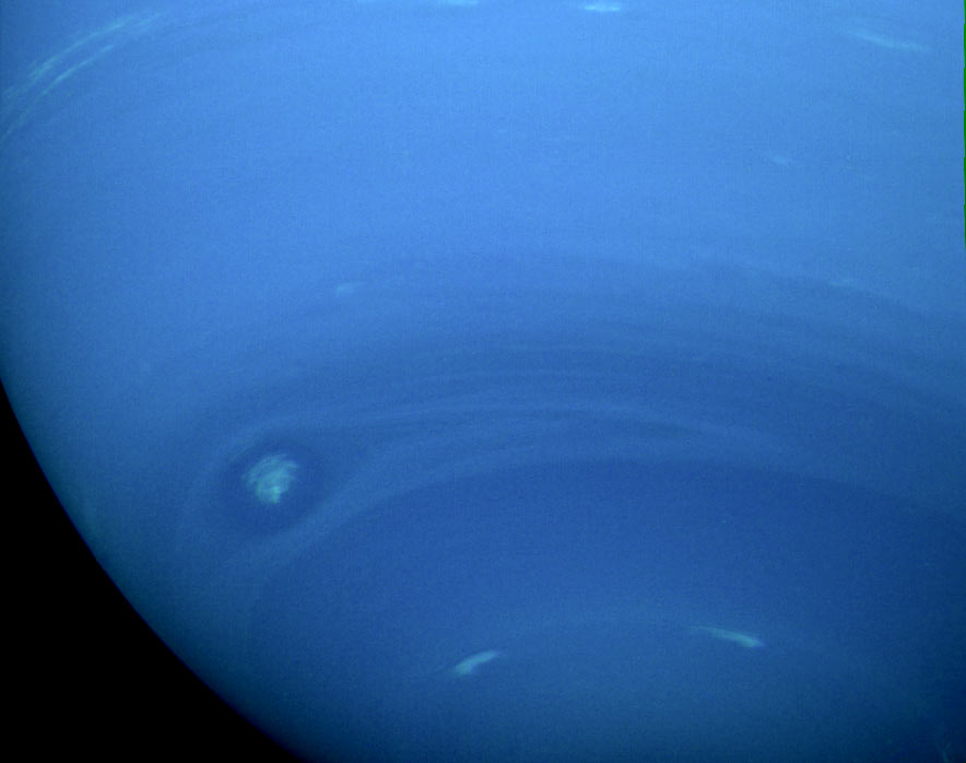 Cloud systems in Neptune's southern hemisphere.