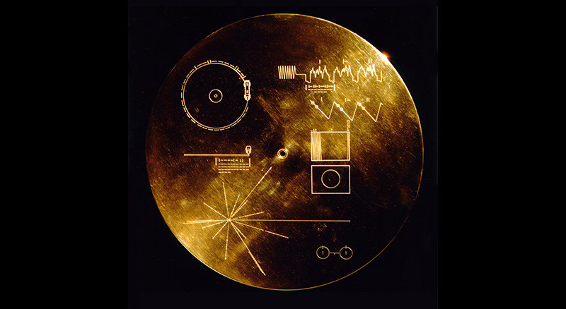 Picture of the Golden Record Cover.