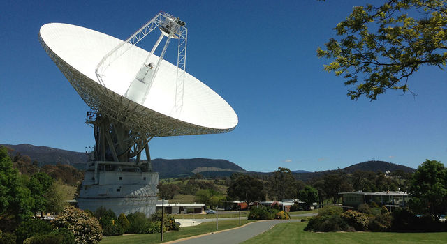 DSS43 is a 70-meter-wide (230-feet-wide) radio antenna at the Deep Space Network