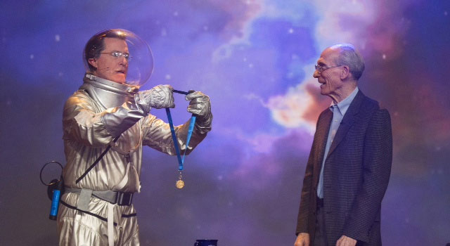 Voyager Project Scientist Honored by NASA — Via Stephen Colbert
