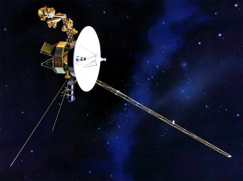 voyager voyager 1, prepare for action Relative Size of Voyager 1