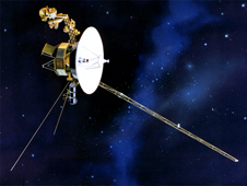 An artist's concept of Voyager 1.